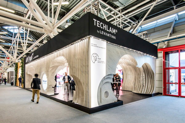Cersaie stand Levantina Techlam