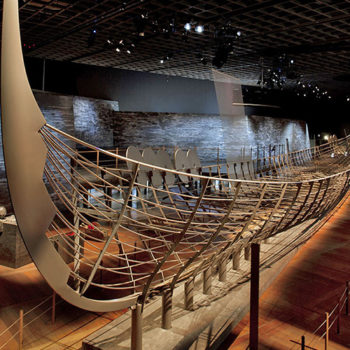 "Viking boat from the exhibition ""Vikings, Beyond the legend"" by ROCAMORA"