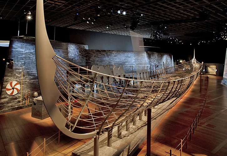 Viking boat from the exhibition