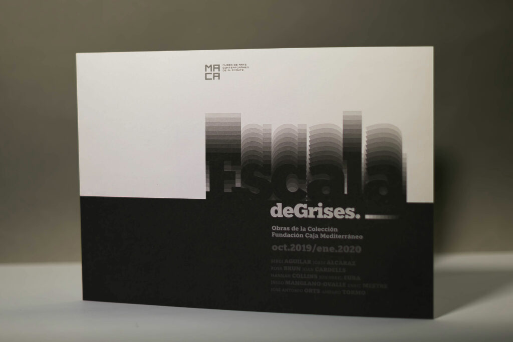 GRAPHICS DESING MACA EXHIBITION GRAYSCALE