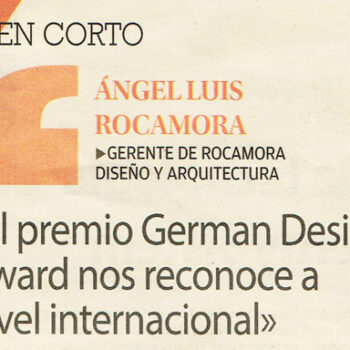 INTERVIEW WITH ÁNGEL LUIS ROCAMORA: GERMAN DESIGN AWARD RECOGNIZES US INTERNATIONALLY