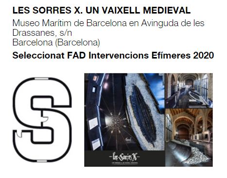 """ROCAMORA DESIGN AND ARCHITECTURE SELECTED AT THE FAD 2020 AWARDS WITH THE PROJECT """"SORRES X. A MEDIEVAL VAIXELL"""""""