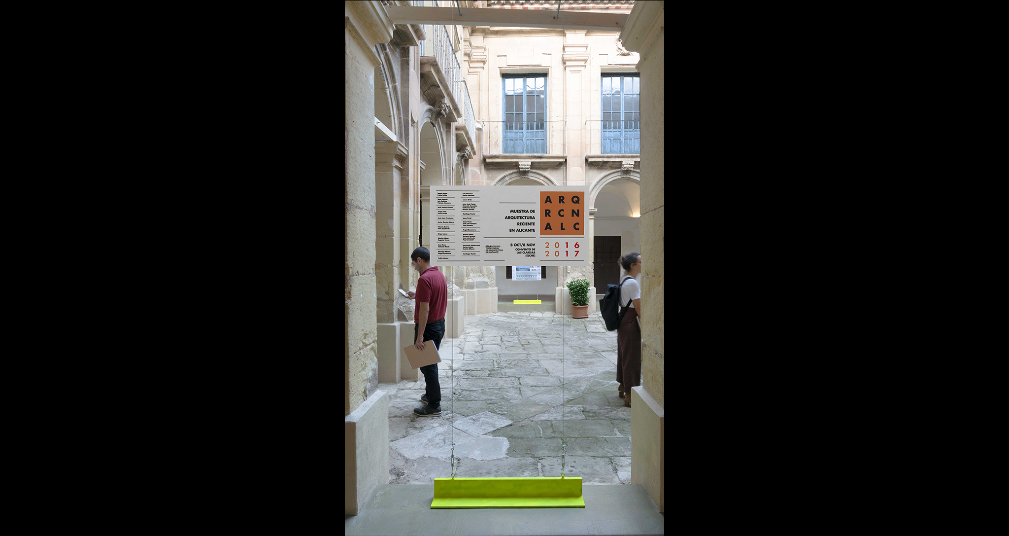TEMPORARY EXHIBITION ARCHITECTURE WEEK 2019 FOR THE OFFICIAL ASSOCIATION OF ARCHITECTS OF ALICANTE IN THE CULTURAL CENTRE LAS CLARISAS EXHIBITION DESIGN ROCAMORA DESIGN AND ARCHITECTURE ELCHE ALICANTE