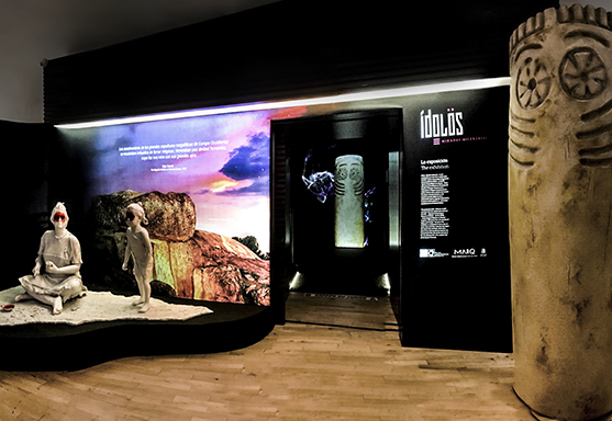 Rocamora Design and architecture Elche exhibition Idols Millenary Glances Archaeological Museum Madrid