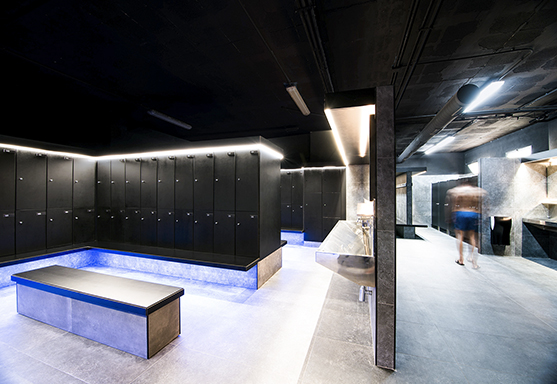 ARCHITECTURE AND REFORM OF CHANGING ROOMS CLUB DEPORTIVO STADIO SAN JUAN BY ROCAMORA DESIGN ELCHE ALICANTE SPAIN