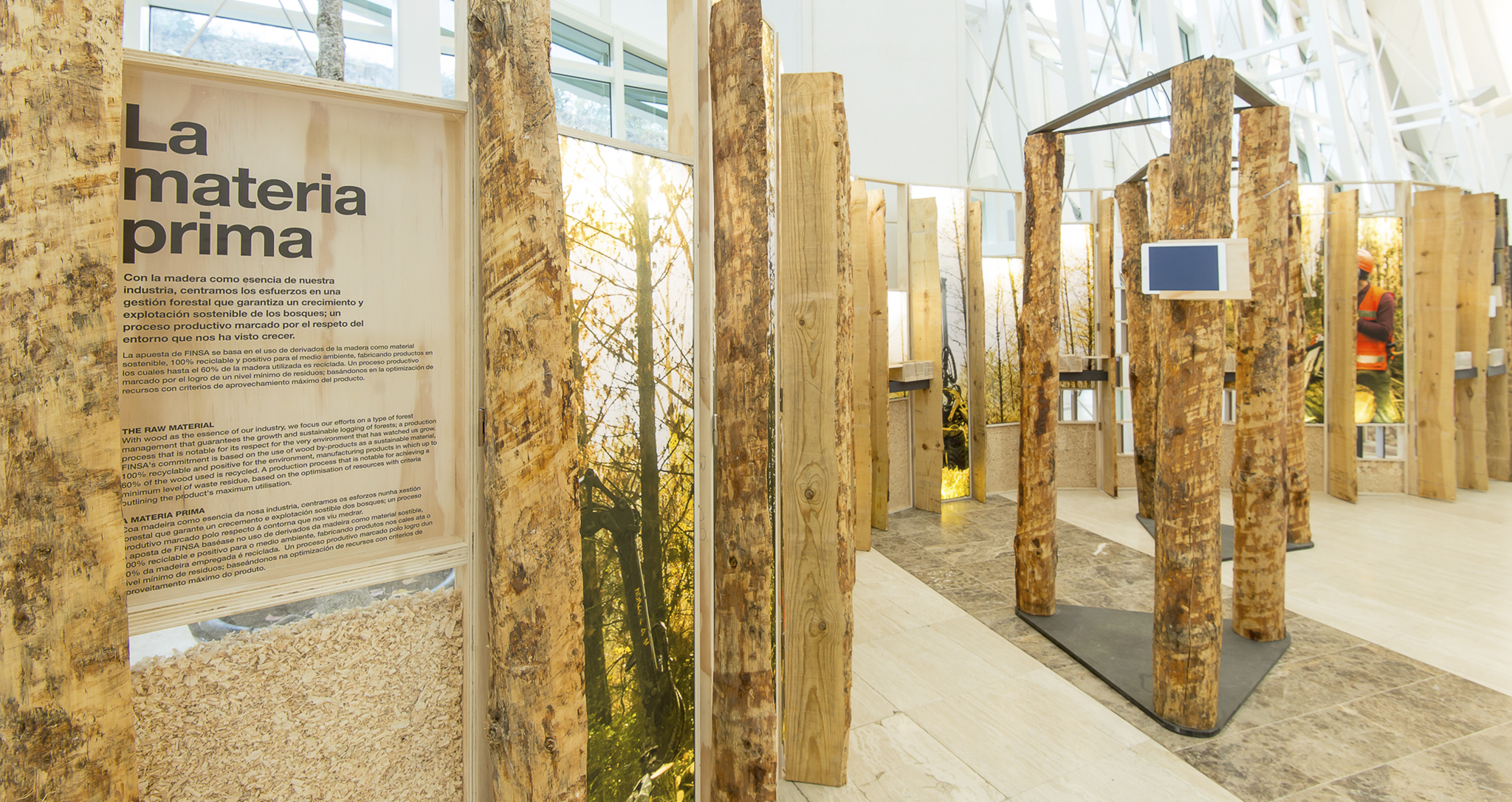 Architecture temporary traveling exhibition City of Culture and FINSA Headquarters in Santiago de Compostela by Rocamora design Elche Alicante Spain