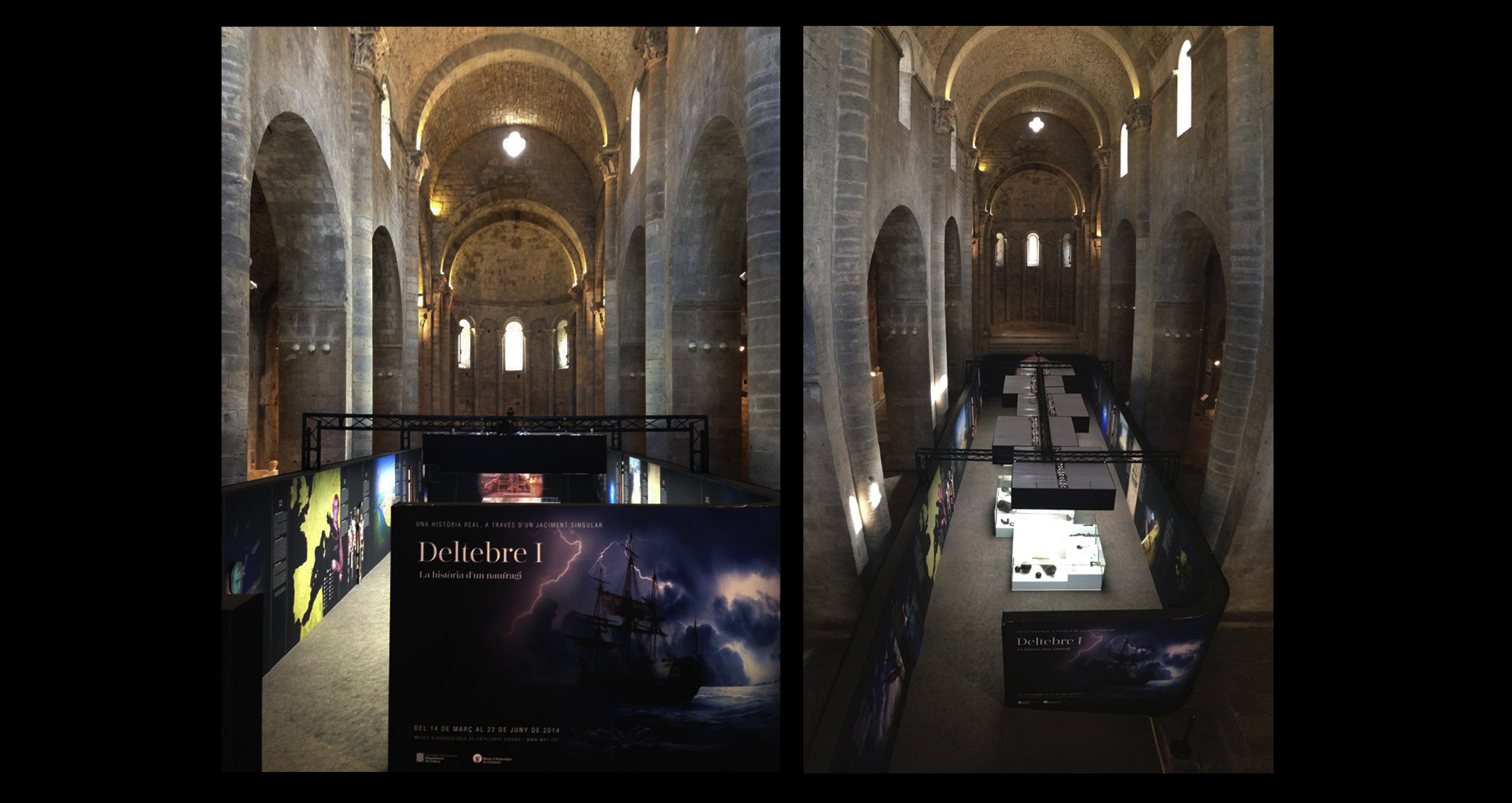 DESIGN EXHIBITION AND MUSEOGRAPHY TEMPORARY TRAVELING DELTEBRE SHIPWRECK IN MAC ARCHEOLOGY OF CATALONIA BY ROCAMORA ARCHITECTURE ELCHE ALICANTE SPAIN