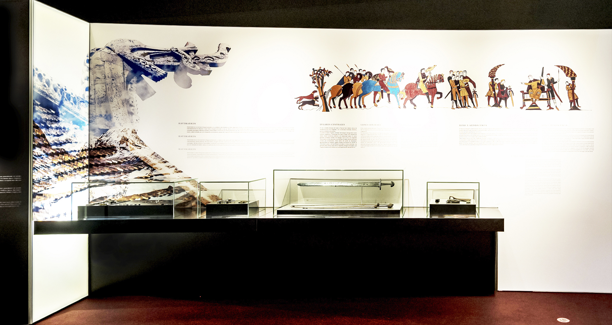 Temporary exhibition and museography design for Vikings by Rocamora Arquitectura Elche Alicante Spain