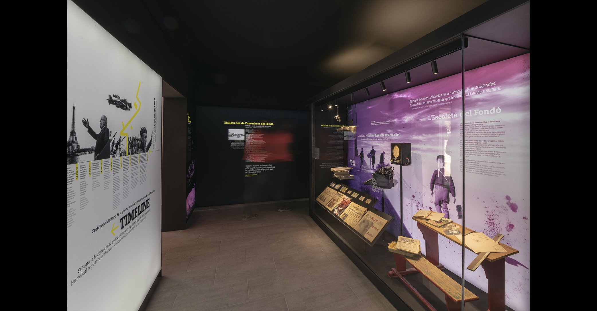 MUSEUM OF PLACE AND INTERPRETATION CENTRE. Museum of democratic memory of the last days of the II Republic in Spain.
